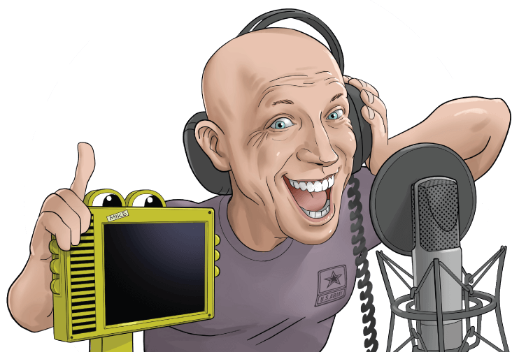 Andy Field Voice Artist Caricature