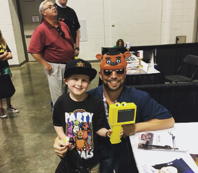 Andy Field Voice Artist FNAF Fan & Glasses
