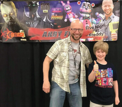 Andy Field Voice Artist With FNAF Fan